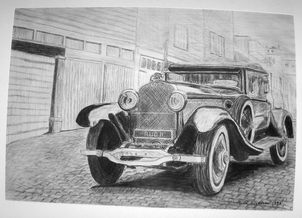 Old Car\' Charcoal Drawing by Tupunoor on DeviantArt