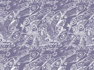 Fish print pattern design