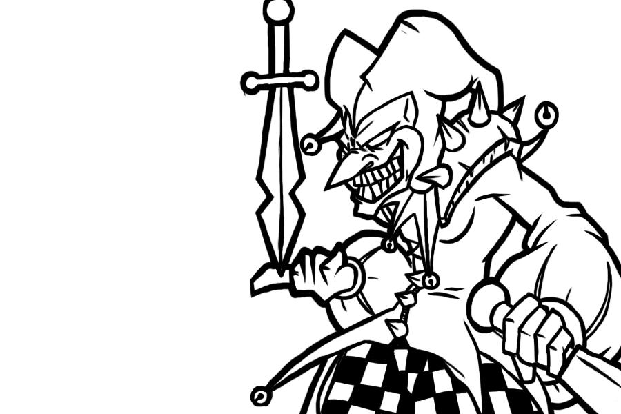 League of legends shaco by chaosbloodlust on deviantart for League of legends coloring pages