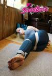 Yoga MILF Bound and Barefoot!