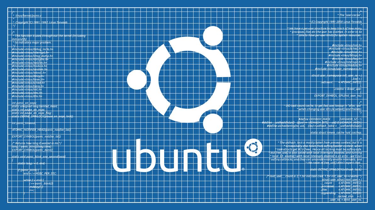 Ubuntu Blueprint Wallpaper by poulsen93
