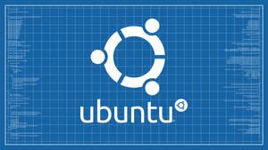 Ubuntu Blueprint Wallpaper Rev. 2