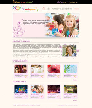 Events web template