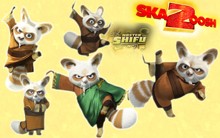 how to draw kung fu panda master shifu