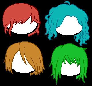 Homestuck Hair - Set 1 by CrystalCyae