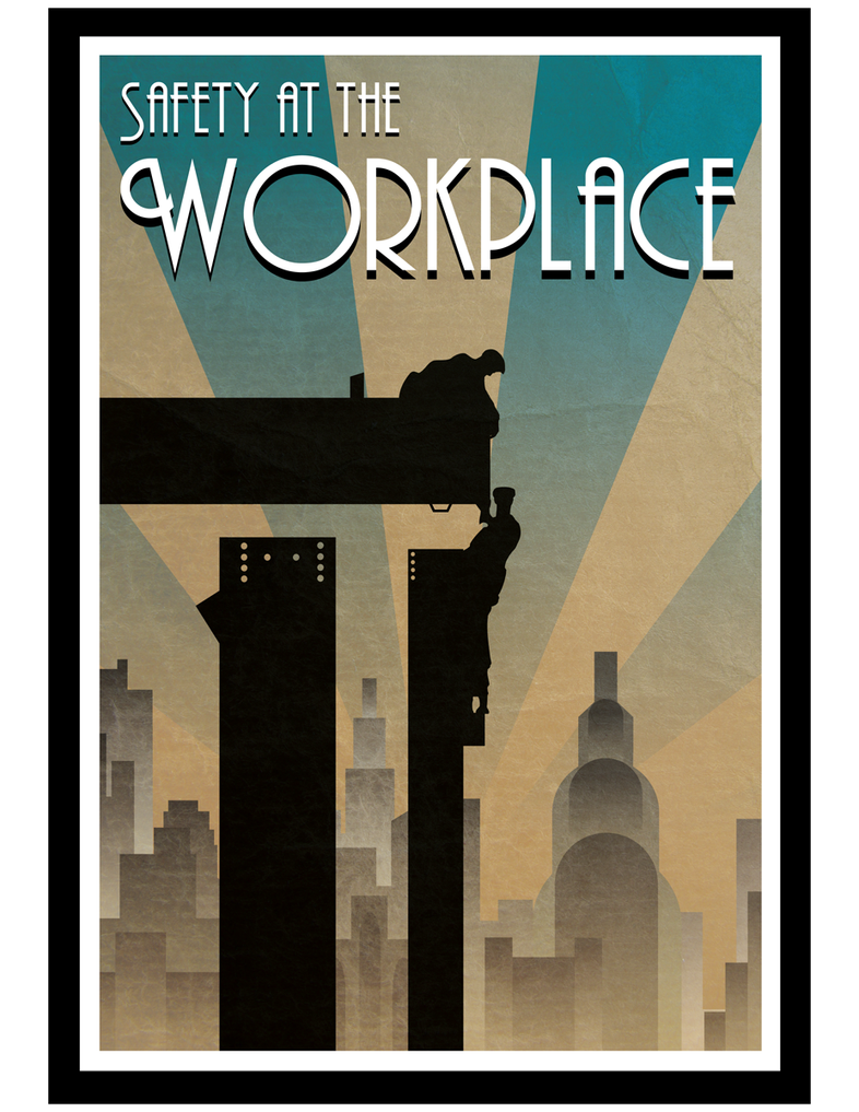Safety at the workplace Art-deco poster by filipvajbar on ...