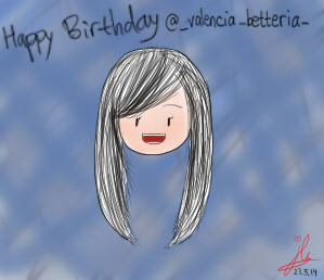 Happy Birthday @_valencia_betteria_ :D ! by 12enma12
