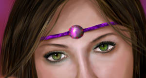 Belly dancer closup eyes by AloneInUniverseArt