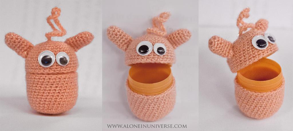 Kinder Surprise Crochet Monster by AloneInUniverseArt