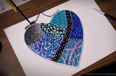 Art Heart by AloneInUniverseArt