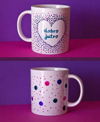 Good morning mug by AloneInUniverseArt