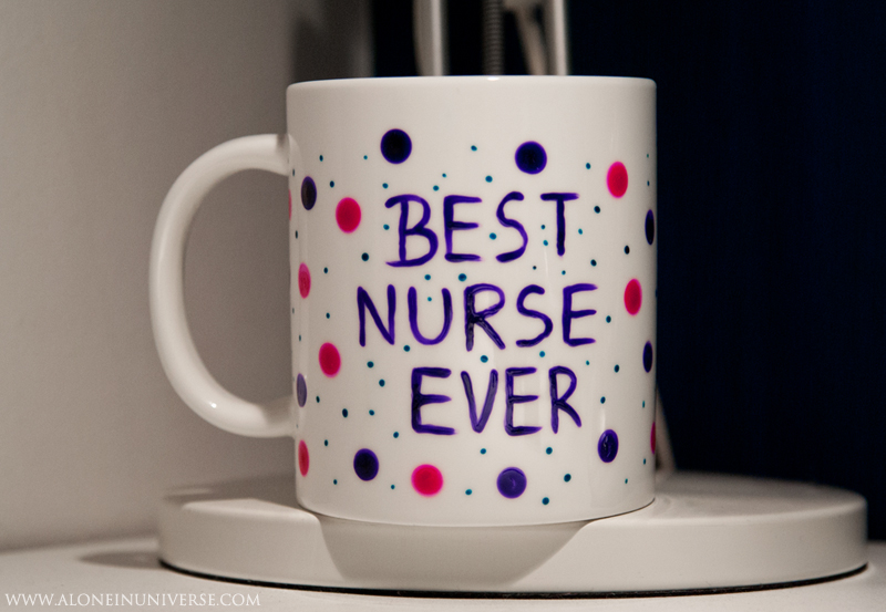 Best Nurse Mug by AloneInUniverseArt
