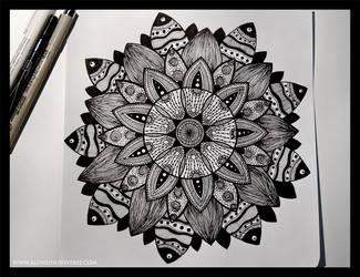 Mandala 2 by AloneInUniverseArt