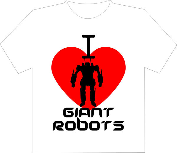 I Heart Giant Robots Shirt by Jay13x