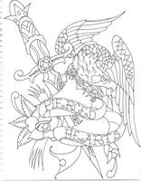 Eagle Tattoo by munkybrain2010