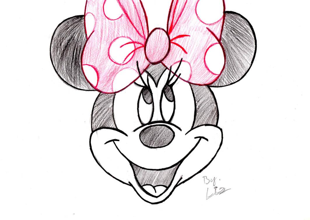 Disney minnie mouse hand draw style by kisjuhaszeliza97