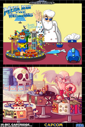 Megaman 30th Collab - The Wily Cake Wars