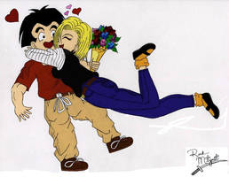 18 and Krillin V-Day '04 by RockMiyabi