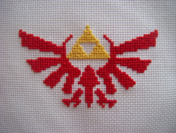 Triforce Crossstitch WIP? by jely-claris-anne