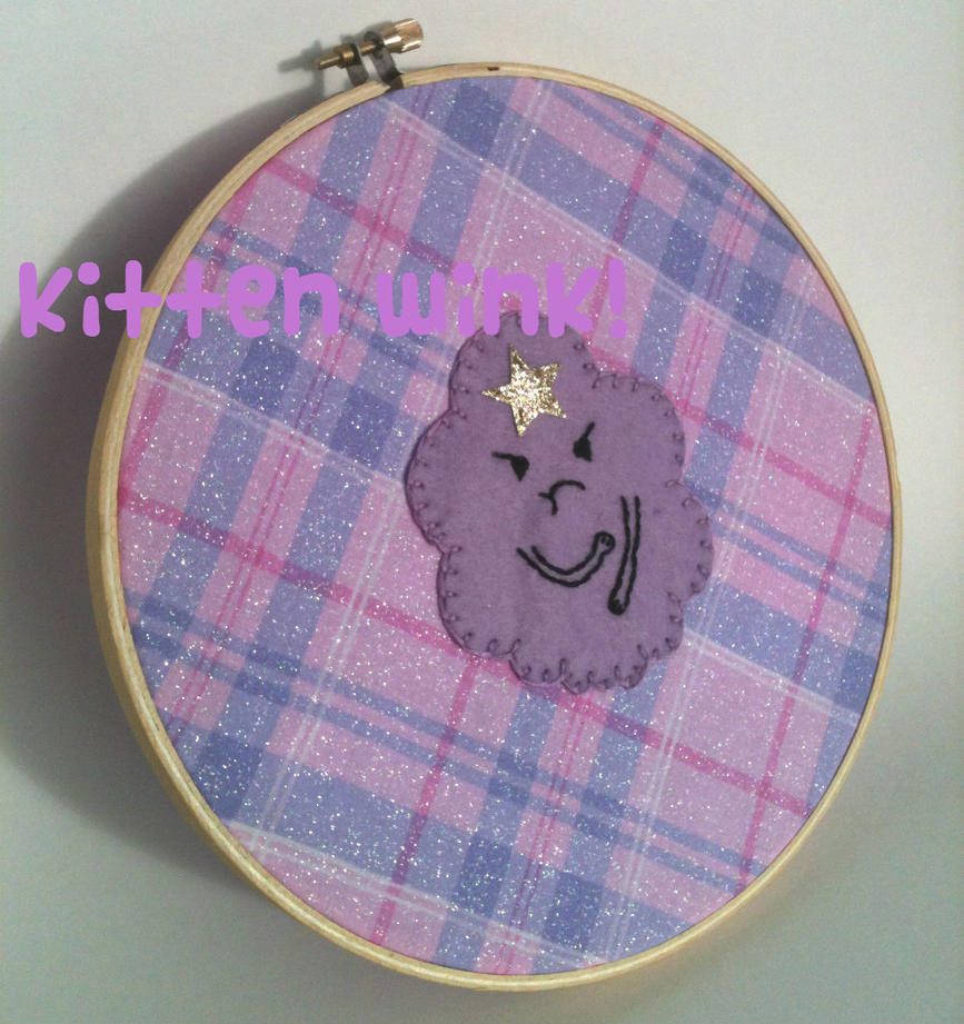 LSP embroidery hoop art by jely-claris-anne