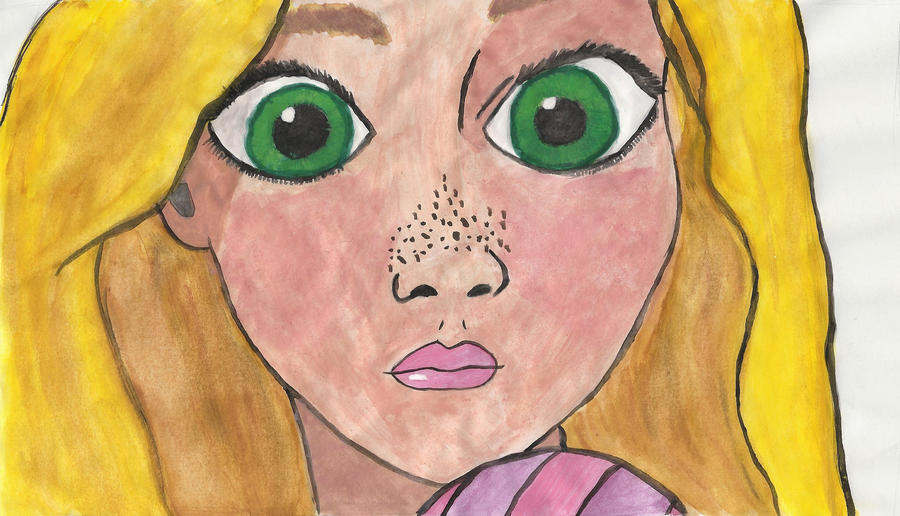 Painting Of Rapunzel By Disney Doodle