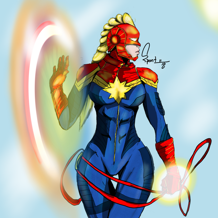 Captain Marvel by spontaneousOD