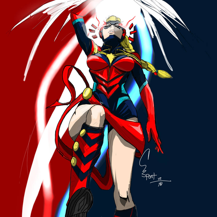 My concept Captain Marvel by spontaneousOD