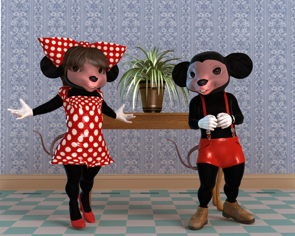 Mr and Ms Mouse 2 by robbybobby