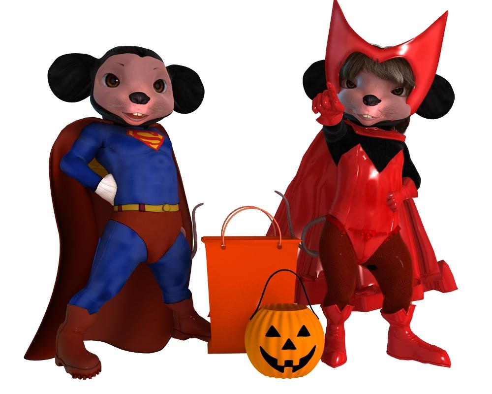Halloween-Mickey and Minnie by robbybobby