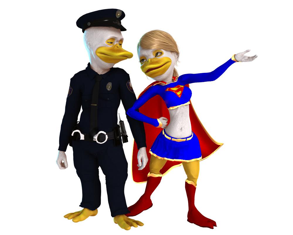 Halloween-Donald and Daisy by robbybobby