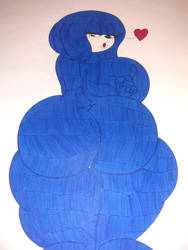 Thicc blue butt by xaviir20