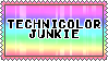 technicolor junkie stamp by kittystuff