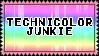 technicolor junkie stamp by kittystuff