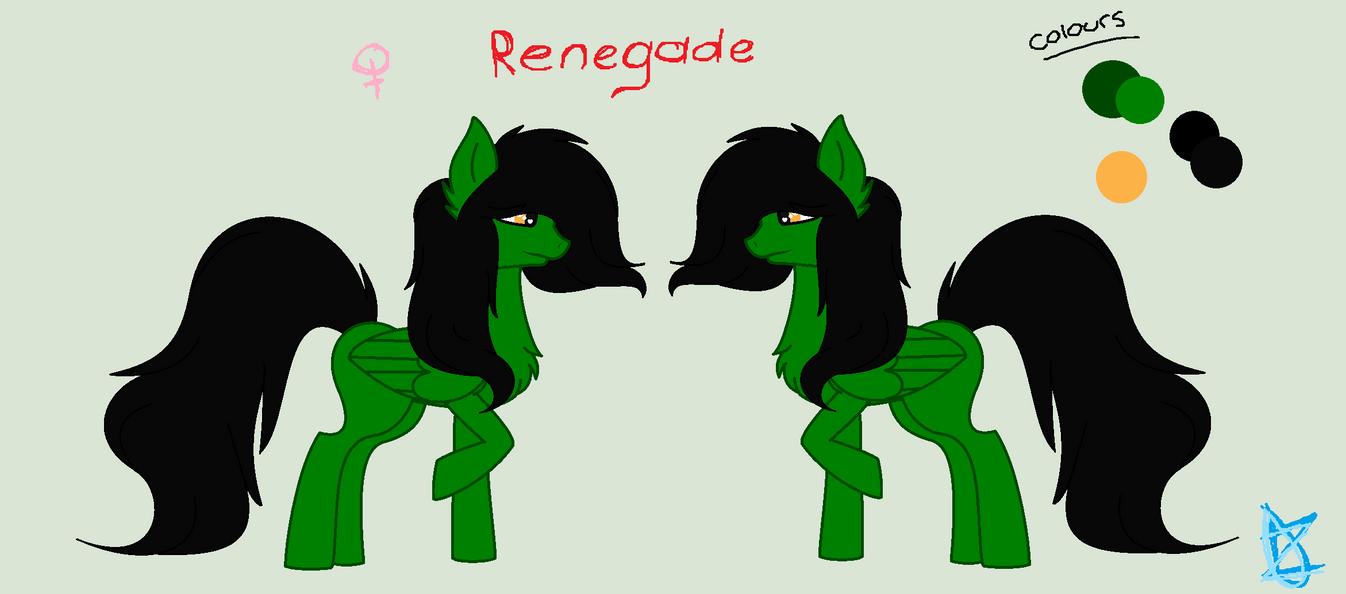 Renegade Ref Sheet by GaryD12