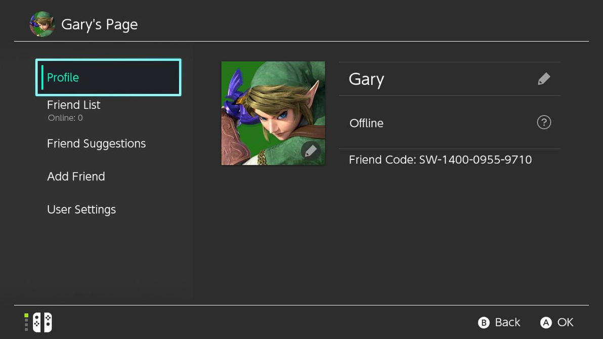 Here's my Switch Friend code. by GaryD12