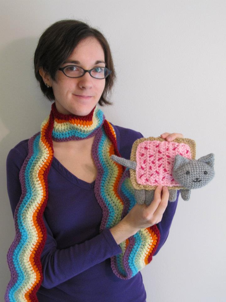 Nyan Cat Scarf Crochet Pattern Free : Nyan Cat Scarf by hlessirah on deviantART