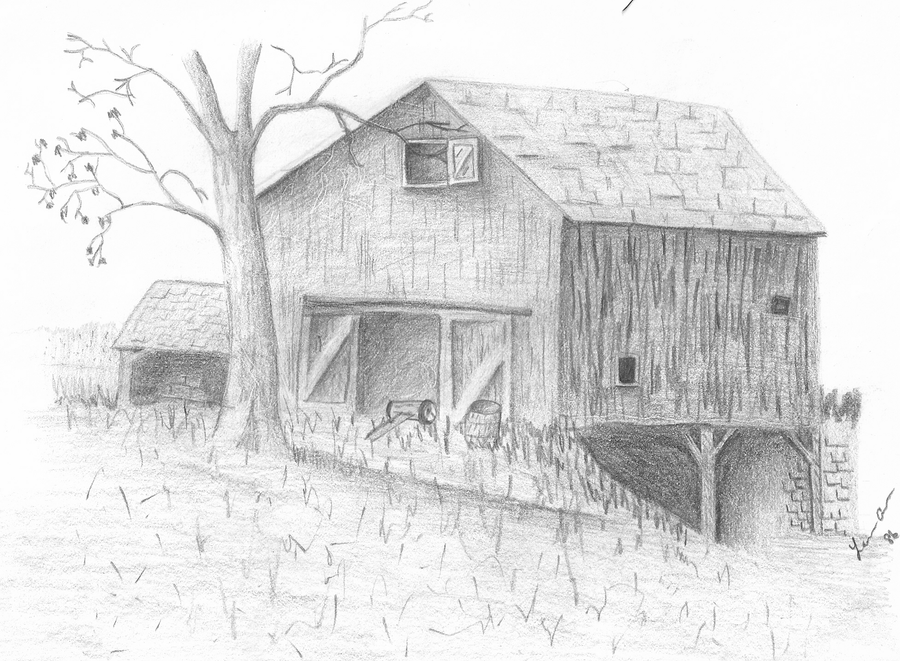 Old Barn By Fisherfusion
