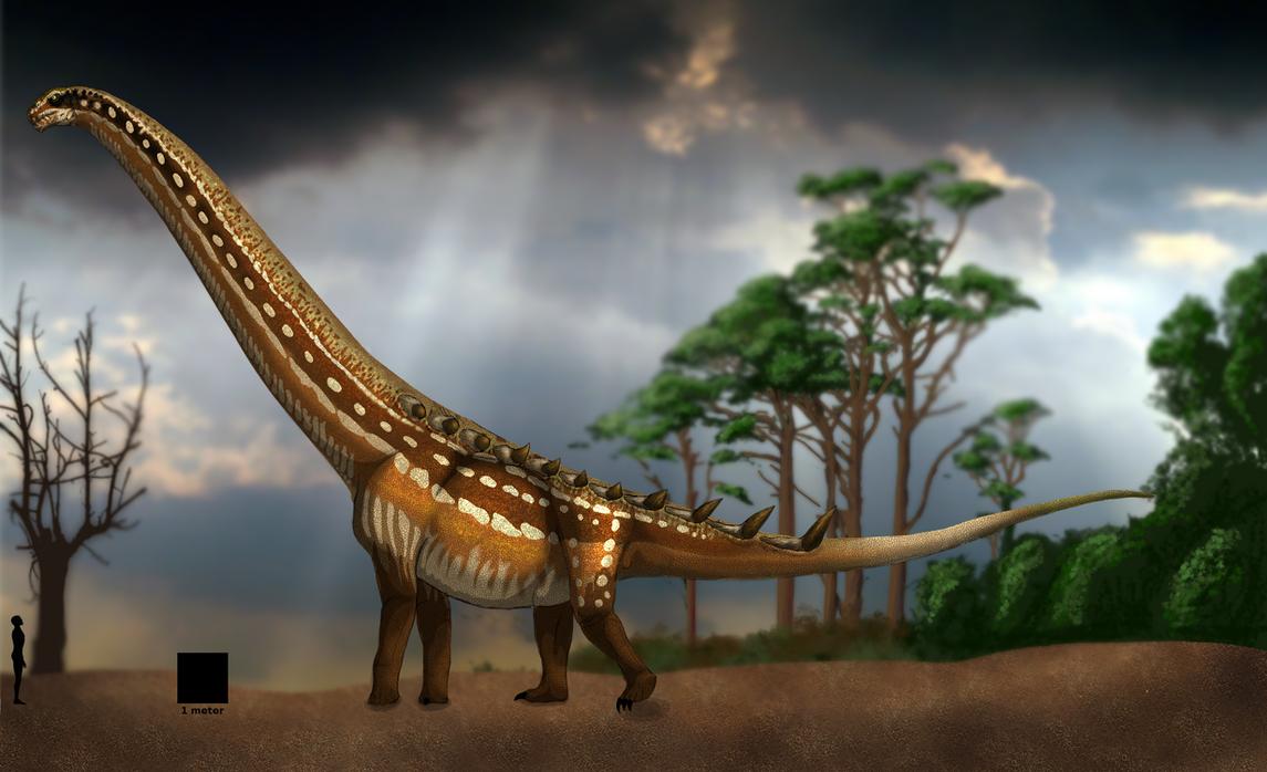 Puertasaurus reuili life restoration. by Franoys