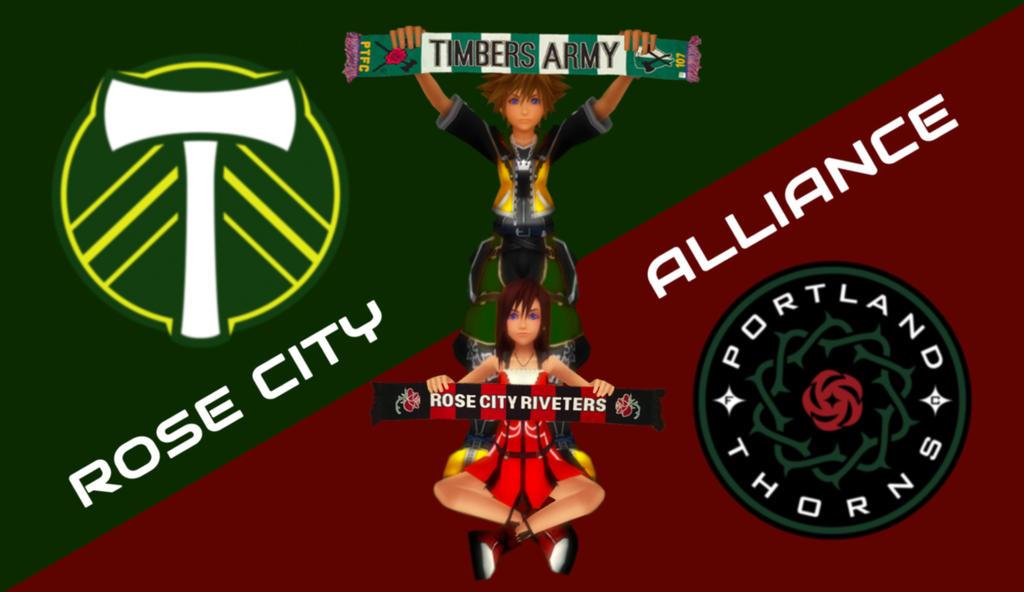 Sora x Kairi - Rose City Alliance by rev-rizeup