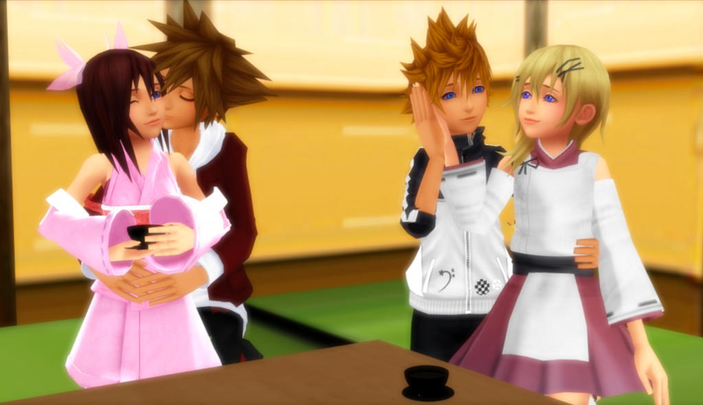 KH Pairings - Morning Tea and Cuddling by rev-rizeup