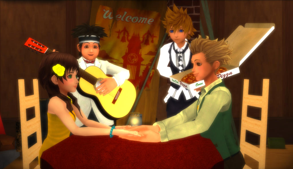 Hayner x Olette - And We Call It Bella Notte by rev-rizeup