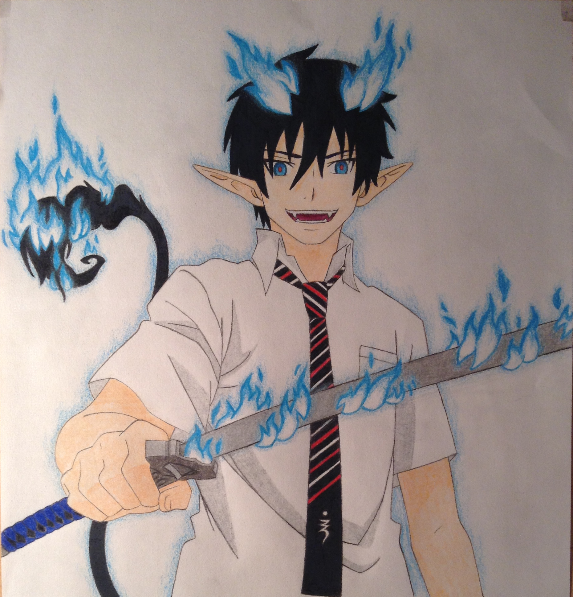 Rin Okumura (Demon Form) - Blue Exorcist by ...