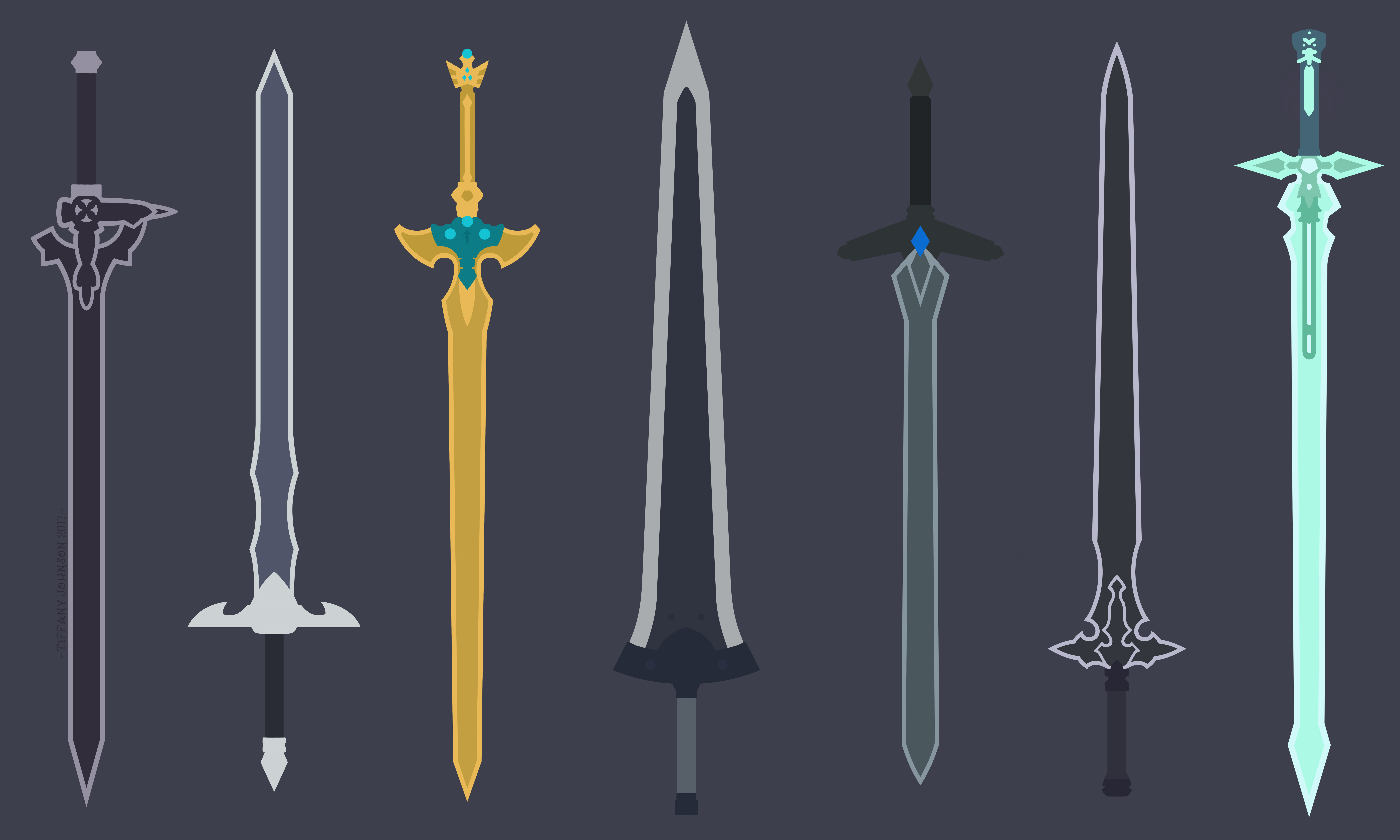 Kirito 39 s swords sword art online minimal by for Minimal art online