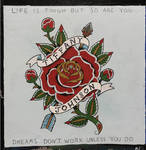 Old School Tattoo Rose and Arrow by AligerousWayfarer