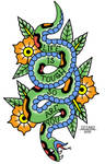 Snake Traditional Tattoo by AligerousWayfarer