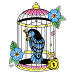 Bird Cage Traditional Tattoo by AligerousWayfarer