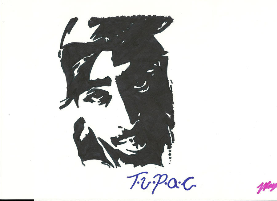 Tupac Stencil By Saiyan-14 On DeviantArt