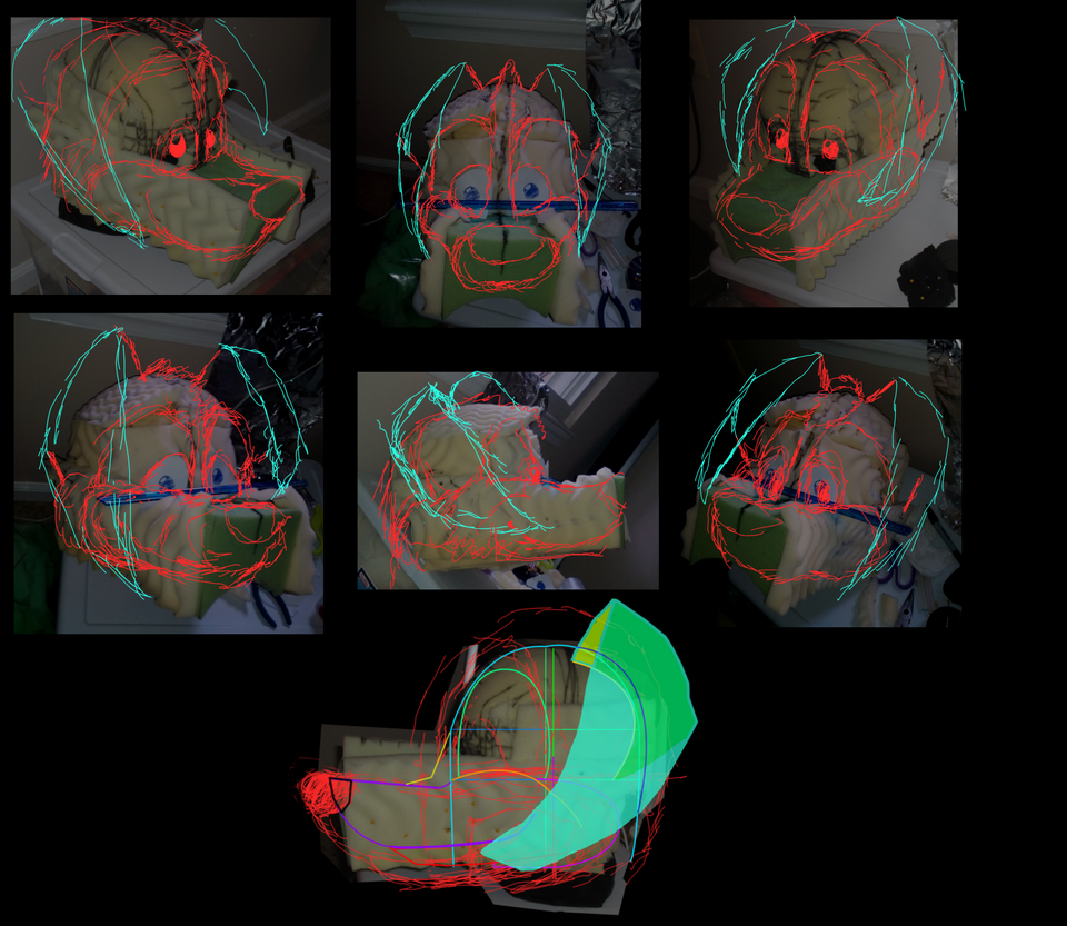 Fursuit Head - Concept Sketches by SpiffyFox