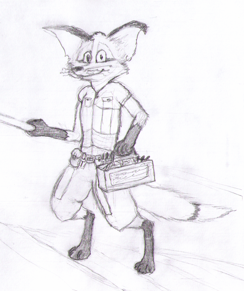 Spiffy Sketch - Engineer by SpiffyFox