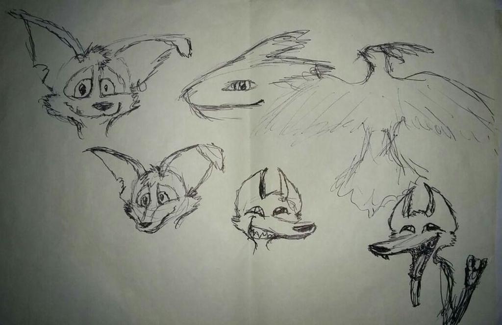 Pen Sketches by SpiffyFox